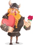 Big Male Viking Cartoon Vector Character AKA Torhild the Brave - Love