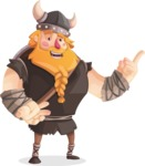 Big Male Viking Cartoon Vector Character AKA Torhild the Brave - Showcase 2