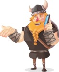 Big Male Viking Cartoon Vector Character AKA Torhild the Brave - Support 3