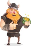 Big Male Viking Cartoon Vector Character AKA Torhild the Brave - Show me the money