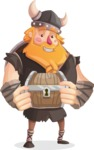 Big Male Viking Cartoon Vector Character AKA Torhild the Brave - Treasure chest 2