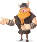Big Male Viking Cartoon Vector Character AKA Torhild the Brave - Show