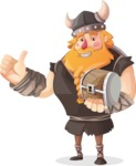 Big Male Viking Cartoon Vector Character AKA Torhild the Brave - Treasure chest 3