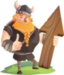 Big Male Viking Cartoon Vector Character AKA Torhild the Brave - Arrow 1