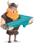 Big Male Viking Cartoon Vector Character AKA Torhild the Brave - Arrow 2