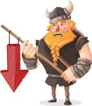 Big Male Viking Cartoon Vector Character AKA Torhild the Brave - Arrow 3