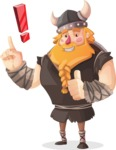Big Male Viking Cartoon Vector Character AKA Torhild the Brave - Idea