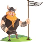 Big Male Viking Cartoon Vector Character AKA Torhild the Brave - Checkpoint