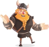 Big Male Viking Cartoon Vector Character AKA Torhild the Brave - Show 2