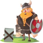 Big Male Viking Cartoon Vector Character AKA Torhild the Brave - Broken