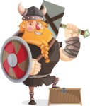 Big Male Viking Cartoon Vector Character AKA Torhild the Brave - Winner