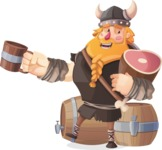 Big Male Viking Cartoon Vector Character AKA Torhild the Brave - Feast