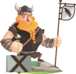 Big Male Viking Cartoon Vector Character AKA Torhild the Brave - On Top