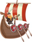 Big Male Viking Cartoon Vector Character AKA Torhild the Brave - Expedition