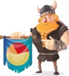 Big Male Viking Cartoon Vector Character AKA Torhild the Brave - Pie Chart