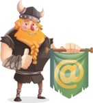 Big Male Viking Cartoon Vector Character AKA Torhild the Brave - Email