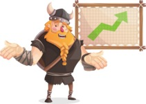 Big Male Viking Cartoon Vector Character AKA Torhild the Brave - Statistics