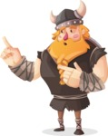 Big Male Viking Cartoon Vector Character AKA Torhild the Brave - Point