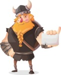 Big Male Viking Cartoon Vector Character AKA Torhild the Brave - Sign 1