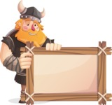 Big Male Viking Cartoon Vector Character AKA Torhild the Brave - Presentation 2
