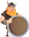 Big Male Viking Cartoon Vector Character AKA Torhild the Brave - Presentation 3