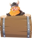 Big Male Viking Cartoon Vector Character AKA Torhild the Brave - Presentation 4