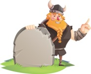 Big Male Viking Cartoon Vector Character AKA Torhild the Brave - Presentation 5