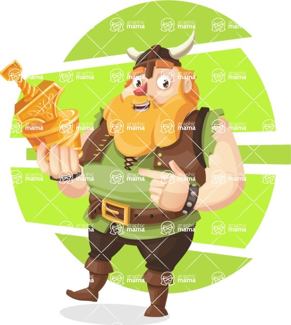 Funny Viking Cartoon Vector Character Aka Earl Sigrunn