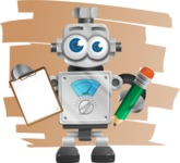 Vintage Robot Cartoon Vector Character AKA Bolty - Shape7