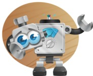 Vintage Robot Cartoon Vector Character AKA Bolty - Shape9