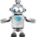 Vintage Robot Cartoon Vector Character AKA Bolty - Lost