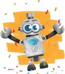 Vintage Robot Cartoon Vector Character AKA Bolty - Shape12