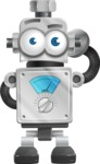 Vintage Robot Cartoon Vector Character AKA Bolty - Oops