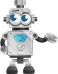 Vintage Robot Cartoon Vector Character AKA Bolty - Bored