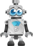 Vintage Robot Cartoon Vector Character AKA Bolty - Sad