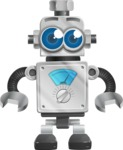 Vintage Robot Cartoon Vector Character AKA Bolty - Shocked