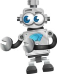 Vintage Robot Cartoon Vector Character AKA Bolty - Welcome