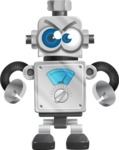 Vintage Robot Cartoon Vector Character AKA Bolty - Angry