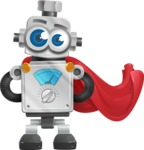 Vintage Robot Cartoon Vector Character AKA Bolty - Super Robot
