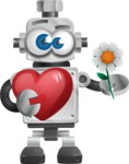 Vintage Robot Cartoon Vector Character AKA Bolty - Love