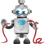 Vintage Robot Cartoon Vector Character AKA Bolty - Cable