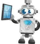 Vintage Robot Cartoon Vector Character AKA Bolty - Phone