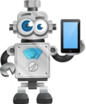 Vintage Robot Cartoon Vector Character AKA Bolty - iPhone