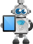Vintage Robot Cartoon Vector Character AKA Bolty - iPad 1