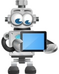 Vintage Robot Cartoon Vector Character AKA Bolty - iPad 2