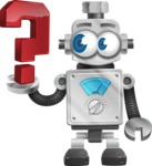Vintage Robot Cartoon Vector Character AKA Bolty - Question