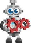 Vintage Robot Cartoon Vector Character AKA Bolty - Gears