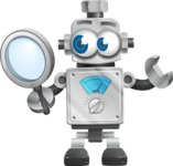 Vintage Robot Cartoon Vector Character AKA Bolty - Search