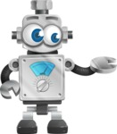 Vintage Robot Cartoon Vector Character AKA Bolty - Showcase