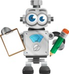 Vintage Robot Cartoon Vector Character AKA Bolty - Notepad